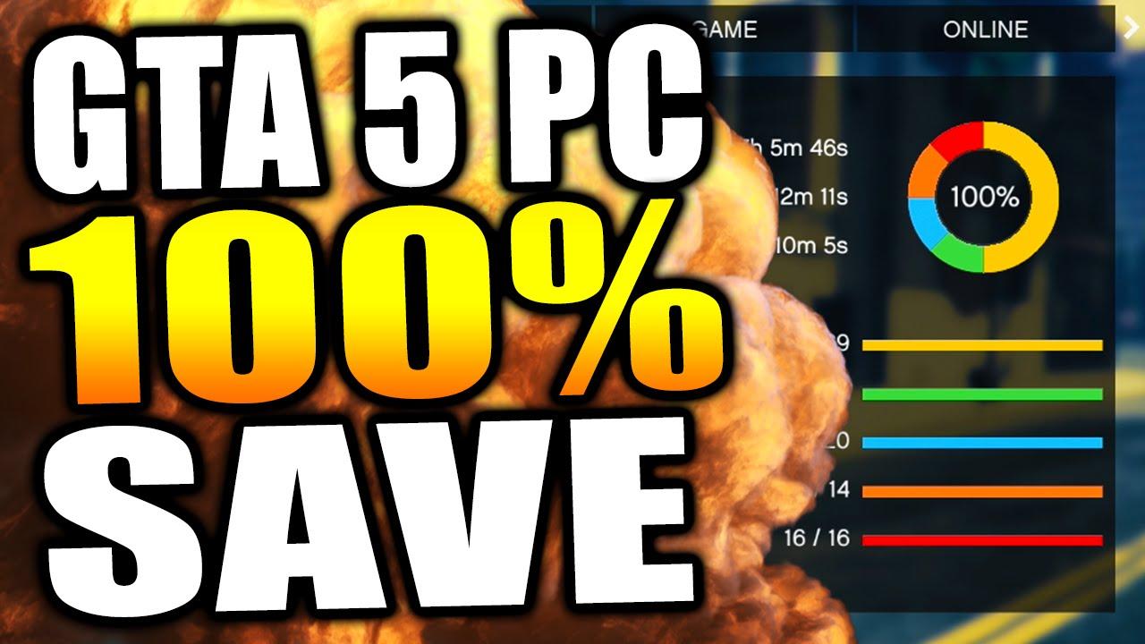 100% Cохранения игры (PC) gta 5