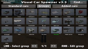 Visual Car Spawner v3.3 для GTA SA